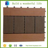 Wholesale Superior quality exterior waterproof grey composite plastic wood floor tile decks from china suppliers