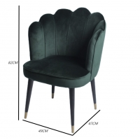 Wholesale W49cm D 47cm H82cm Nordic Velvet Modern Dining Chair from china suppliers