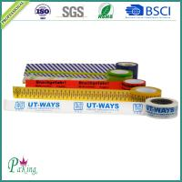 China Acrylic Adhesive BOPP Printed Packing Tape with Background Color on sale