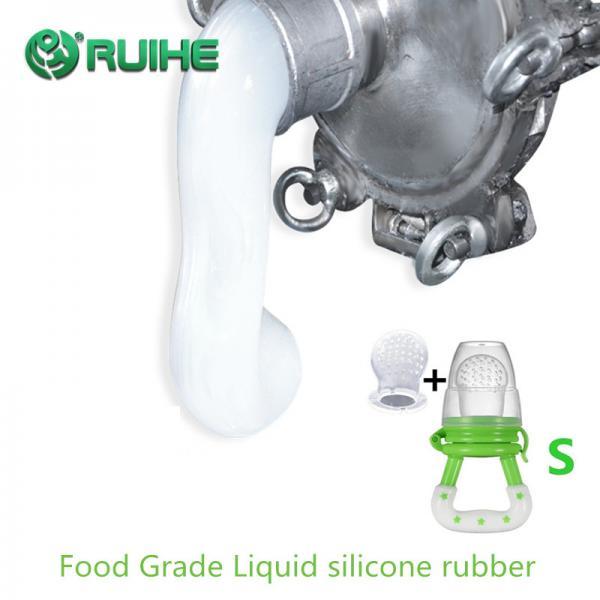Quality 50 Shore A Translucent Platinum Cure Food Grade Liquid Silicone Rubber for sale