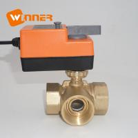 China CE Brass dn50 motorized three way ball valve with manual operation on sale