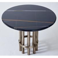 Wholesale Port Laurent Marble Top Wooden Dining Room Tables With Dark Bronze Finish Metal Base from china suppliers