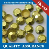 China YAX High Quality Shiny Silver Colored 2mm 3mm iton on hotfix rhinestone studs for clothing shoes jeans on sale