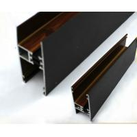 Square / Round Wood Finish Aluminium Profiles Black Color For Building Material