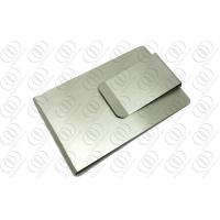 China Double Sided Money Clip And Credit Card Holder With Brush Finish on sale