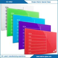 Buy cheap Weekly Glass Magnetic Dry Erase Board from wholesalers