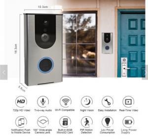 Wholesale Wifi Video Doorbell Outdoor Battery IP Camera PIR Night Vision Wireless Door Intercom Builtin 8G TF Card IP65 Waterproof from china suppliers