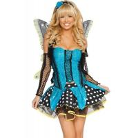 Blue Garden Butterfly  Halloween Adult Costumes Customized For Carnival Dance