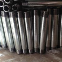 Wholesale Galvanzied Steel Iron Pipe Nipples NPT thread from china suppliers
