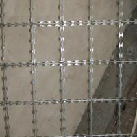 China Military Concertina Razor Wire / Razor Barbed Wire 12mm Barb Length on sale