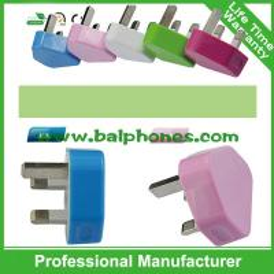Multifunction 3pin uk plug usb 5v 2.1 amp dual travel charger