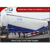 Wholesale High Capacity 3 Axle Bulk Cement Trailer , Tanker Truck Trailer Double Cabins from china suppliers