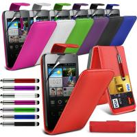 Green Premium Leather Flip Huawei Mobile Phone Cases , Skin Covers For Phones