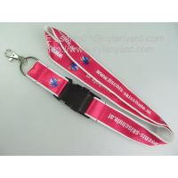 Wholesale Deluxe sublimation satin ribbon stitched double layered lanyards with metal olive hook, from china suppliers