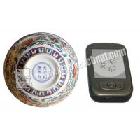 Buy cheap Perspective Ceramic Casino Magic Dice Bowl With Video Phone See from Wholesalers