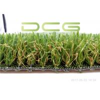 Cement Base Realistic Looking Artificial Grass Rug SGS Certificate With 4 Colors