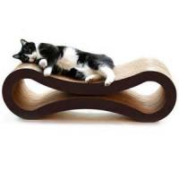 China Glossy Film Lamination Cardboard Cat Scratcher / Beds With Custom Logo Printed on sale