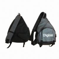 Wholesale Mono strap backpack, made of 600D polyester from china suppliers