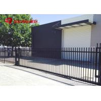 China Galvanized Steel Spear Top Security Fencing Heavy Duty 2 Rail Powder Coated on sale