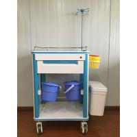 Quality ABS Hospital Medical Cart Multifunction Medical Cart With Two Waste Bin And IV Pole for sale
