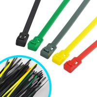 China Multi Colored Commercial Electric Cable Ties , Weather Resistant Nylon Wire Ties on sale