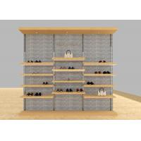 Wholesale Casual Shoe Shop Display Stands , Modern Footwear Display Shelves For Decoration from china suppliers
