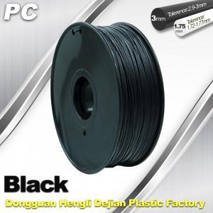 Wholesale High Transparent 1.75mm / 3.0mm 3D Printer Filament  , PC Filament  temperature 230°C  - 280°C from china suppliers