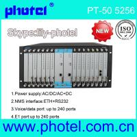 Buy cheap voice multiplexer 240 chs phone fxo/fxs+4E1 over fiber from wholesalers