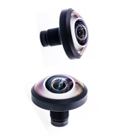 Wholesale 256 Degree 1.1mm 16MP Panoramic M12 Cctv Fisheye Lens from china suppliers