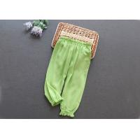 Wholesale Anti Shrink Elastic Kids Track Pants Green Color Apply To Little Girl from china suppliers