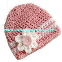 Wholesale 100% hand  crochet kid's caps, crochet girl's beanie hat from china suppliers