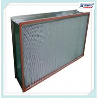 Wholesale 300 Degree High Temperture Aluminum Separator Hepa Filter For Clean Rooms from china suppliers
