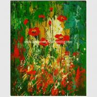 Buy cheap Colorful Abstract Floral Painting Hand - Painted With Texture Customized Size Or from wholesalers