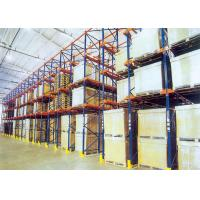 Quality Drive In Drive Through Racking System , Industrial Pallet Shelving For Food / for sale