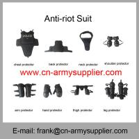 Wholesale Cheap China Black Police Anti Riot Suit With Elbow and Knee Protection