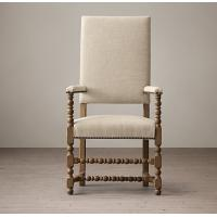 Green blue grey Fabric Dining Chair with high back and Double - doweled frame