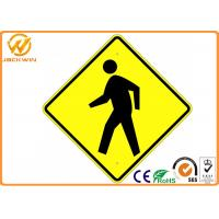 Printed Reflective Street Traffic Warning Signs Weather Proof CE / ROHS / FCC