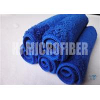 Wholesale Blue Color Microfiber Car Cleaning Cloth Super Soft Super Absorbent 80% Polyester 20% Polyamide from china suppliers