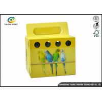 Wholesale Colorful Printing Cardboard Gift Boxes Foldable Space Saving For Birds from china suppliers