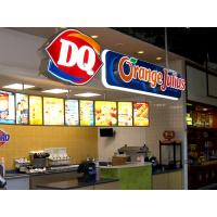 China 3D LED Front-lit Signs With Brushed Stainless Steel Letter Shell For Dairy Queen on sale