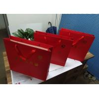Wholesale Food Packaging Logo Printed Paper Gift Bags , Paper Goodie Bags Red Color from china suppliers