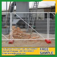 Buy cheap Nevada construction site temporary fencing welded free standing chain link fence from wholesalers