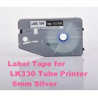 Wholesale 6mm Silver Label Maker Tape 20M p touch tape cassette for cable ID printer from china suppliers
