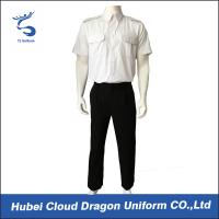 Buy cheap OEM ODM White Security Guard Clothing Adjustable Cuff ​With Embroidered / Printed Logo from Wholesalers