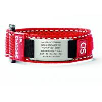 Wholesale Woven Nylon Sport ID Bracelet / Runner Identification Bracelet With 3M Reflective Stripe from china suppliers