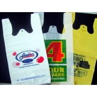 Wholesale Recycled Custom Plastic Grocery Bags With Handles Eco Friendly Multi Colored from china suppliers