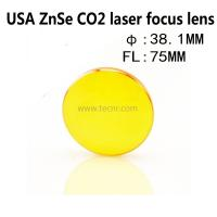 Wholesale USA ZnSe laser pointer lens 38.1MM diameter 75MM focus length for laser engraving machine from china suppliers