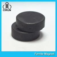 Wholesale Y30BH Disc Shape Ferrite Magnet , Round Disk Magnets Dia 18mm * 5mm from china suppliers