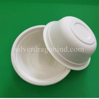 Wholesale Biodegradable Disposable Sugarcane Pulp Paper Bowl, Food Grade, 500ml from china suppliers