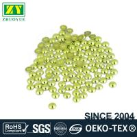 Quality High Color Accuracy Flat Back Metal Studs Good Stickiness With Even Shinning Facets for sale